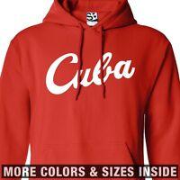 Cuba Script HOODIE - Hooded Baseball Deportes Sweatshirt - All Sizes & Colors