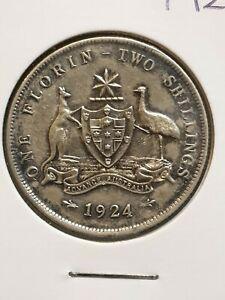 1924 australian florin coin cleaned