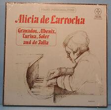 ALICIA DE LARROCHA GRANADOS, ALBENIZ, TURINIA VINYL 3X BOX LP 1978 SEALED MINT!