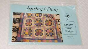 Spring Fling 62 x 62 QUILT PATTERN BY COTTON PICKIN' DESIGNS Q-225 Foley & Boman