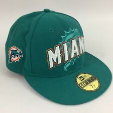 New Era Miami Dolphins Fitted NFL Baseball Cap Headwear Hat 7 1/2