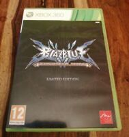 XBOX 360 GAME BLAZBLUE CONTINUUM SHIFT WITH MANUAL TESTED WORKS FINE BLAZE BLUE