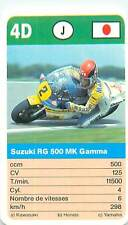 SUZUKI RG 500 MK GAMMA JAPON JAPAN SPORT MOTO 70s 80s PLAYING CARD CARTE À JOUER