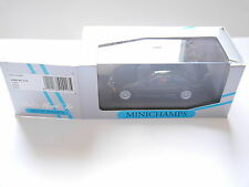 BMW e36 M 3 GTR 1993 street Noir Noir Black, MINICHAMPS #43023381 1:43 en boîte!