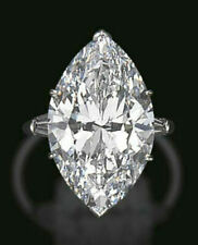 Certified 1.22CT Marquise Diamond Solitaire Engagement Wedding Ring In 14k Gold