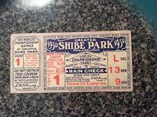1930 World Series Ticket St. Louis Cardinals Philadelphia A's Jimmy Foxx g1