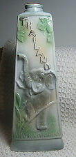 """Vintage 1969 Jim Beam 12"""" Thailand Liquor Decanter, Embossed Elephant and Map"""