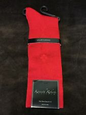 New Mens Kenneth Roberts Platinum socks color Red fits shoes size 8-12