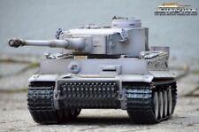 RC Tanque 2.4GHZ Taigen V3 Electrónica Tiger 1 Aerógrafo Gris BB Versión 1:16