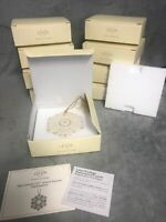 One Lenox 125th Anniversary Snowflake Ornament New In Box With COA MIB