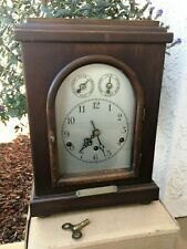 Antique 1921 German Mantle Clock with Police Retirement Brass Engraved Plaque