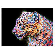 DIY Leopard 5D Diamond Embroidery Painting Cross Stitch Craft Home Decor hv2n