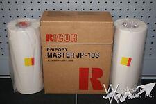 2 Genuine Ricoh JP-10S 893023 Master Rolls For DX3340 DX3343 JP1030 Duplicators