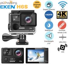 EKEN® H6S SPORT ACTION PRO CAM 4K ULTRA HD WIFI EIS VIDEOCAMERA SUBACQUEA IP68