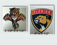 Florida Panthers Iron On Patch Choice of Style Free Shipping in Envelope Mail