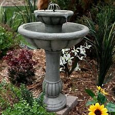 Smart Water Fountain 2 Tier Outdoor Reinforced Solar Demand Pump Garden Patio
