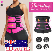 Gym Waist Trainer Sauna Sweat Belt Tummy Control Girdle Slimming Body Shaper AU