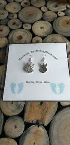 Angel, Guardian Angel Earrings,  with Sterling Silver Ear wires