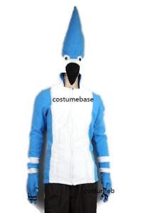 REGULAR SHOW Blue Jay MORDECAI JACKET fleece CHILD KIDS Hoodie costume