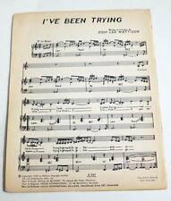 Partition vintage sheet music EDDY LEE MATTISON : I've Been Trying * 60's Soul
