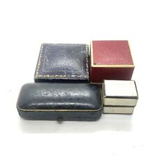 Antique Victorian Leatherette Jewellery Boxes #85