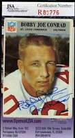 Bobby Joe Conrad Jsa Coa Autographed 1966 Philadelphia Gum Authentic Hand Signed