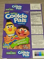 Vintage Sesame Street Cookie Pals Cinnamon Graham Empty Box