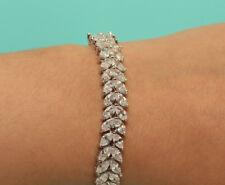 3ct. Oval Cut Diamond Tennis Bracelet ENGAGEMENT 18K WHITE GOLD ENHANCED