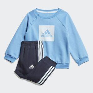 INFANT TODDLER UNISEX BOY ADIDAS JOGGER SET TRACKSUIT NAVY BLUE FM6389 0-4 YEARS