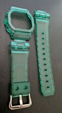 g-shock  DW5600 transparent green clear jelly bezel and strap
