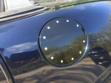 Saturn Sky/ Pontiac Solstice Black Gas Door Decal With Mirrored Bolts