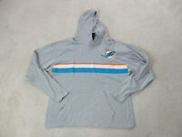 NFL Miami Dolphins Sweater Adult Large Gray Orange Football Hoodie Mens