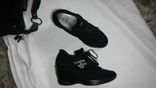 HORNET scarpe donna zeppe n 35 blu scamosciate retail 185 euro