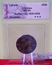 2008 Canada Quebec City 400th Anniversary 2 Dollars with Unigrade Certification