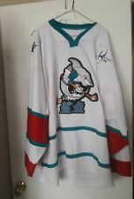 2008 -2010 China Sharks San Jose Sharks affiliate Ming Game Used Jersey #1