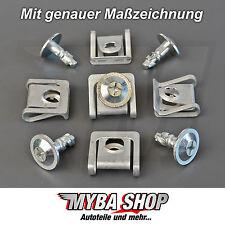 10x SET MOTORSCHUTZ UNTERFAHRSCHUTZ METALL CLIPS BMW KLIP NEU