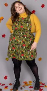 Run & Fly x Katie Abey Mushroom Boys Pinafore denim dress
