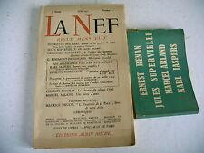 revue littéraire LA NEF n° 31 + bandeau 1947 allemands vus par eux mêmes jaspers