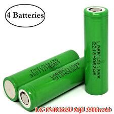 4x LG INR 18650 MJ1 3500mAh 10A Rechargeable High Drain Flat Top 3.7V Battery