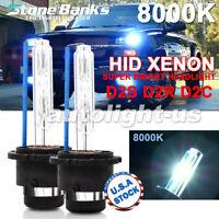 2x 8000K Ice Blue D2S D2R D2C HID Xenon Bulbs Factory Replacement Headlight Kit