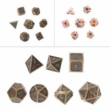 1 Set 7MM Shiny Metal Dice 7 Dices D4 D6 D8 D10 D% D12 D20 For Board Games