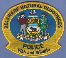 DELAWARE NATURAL RESOURCES FISH & WILDLIFE POLICE SHOULDER PATCH