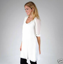 Womens Pleated Tunic Top by Lil`D   size M  Cream