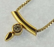 Brillant Collier .585 Gelbgold  #  G 3459