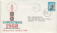 CANADA #488 5¢ 1968 CHRISTMAS ISSUE ON CANECO CACHET FIRST DAY COVER - C