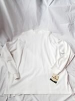 Woolrich First Forks Cotton Long Sleeve Moc Turtleneck Shirt White M