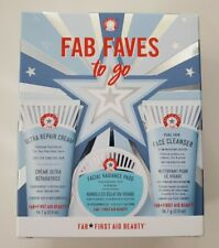 First Aid beauty FAB FAVES TO GO kit (CREAM, PADS, CLEANSER) NEW BRAND! SOLD OUT