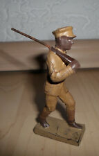 prewar Lineol Haile Selassie imperial guard soldier with rifle Abyssinian