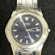 CITIZEN Silver Stainless Steel E110-H25586 Mens Eco Drive Wristwatch 53617