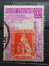 1951  ITALIA Francobolli di Toscana 20 lire   usato